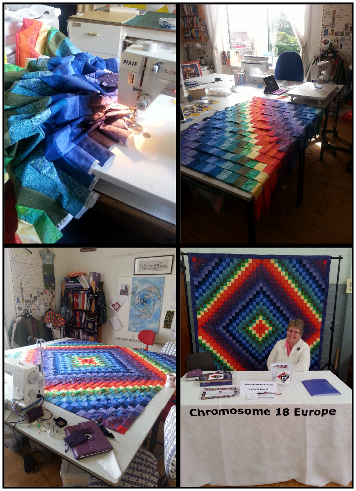 Making the Rainbow Round The World at Bonnie's Workshop
